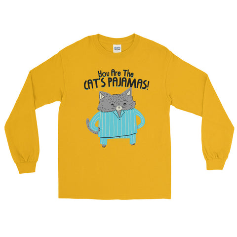 Cat's Pajamas -  Long Sleeve T-Shirt -  Cute Cat Tee (light colors)