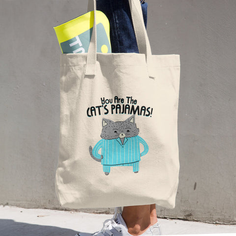 Cat's Pajamas - Tote Bag - Cute Cat