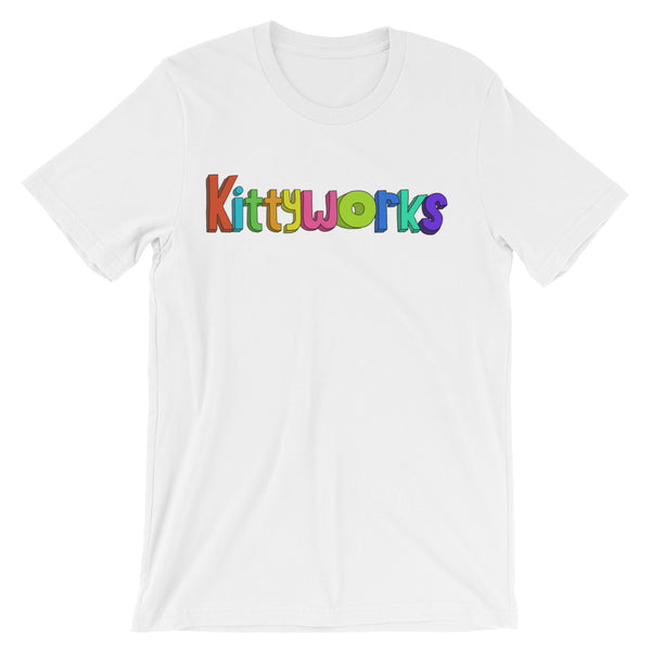 Kittyworks Logo - Men's Cat T-Shirt - Casual Cats Tee