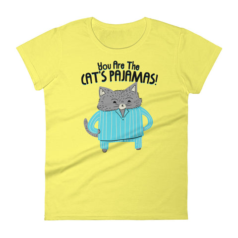 Cat's Pajamas -  Women's T-Shirt -  Cute Cat Tee (light colors)