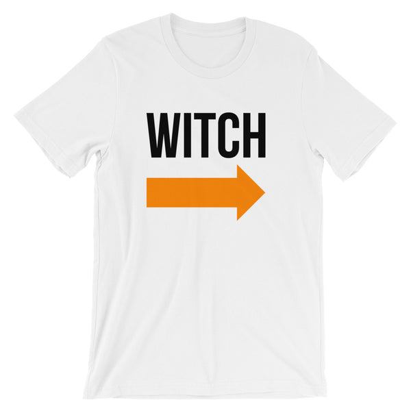 I'm With the Witch - Halloween Costumes Men's T-Shirt - Scary Funny Tee (light colors)
