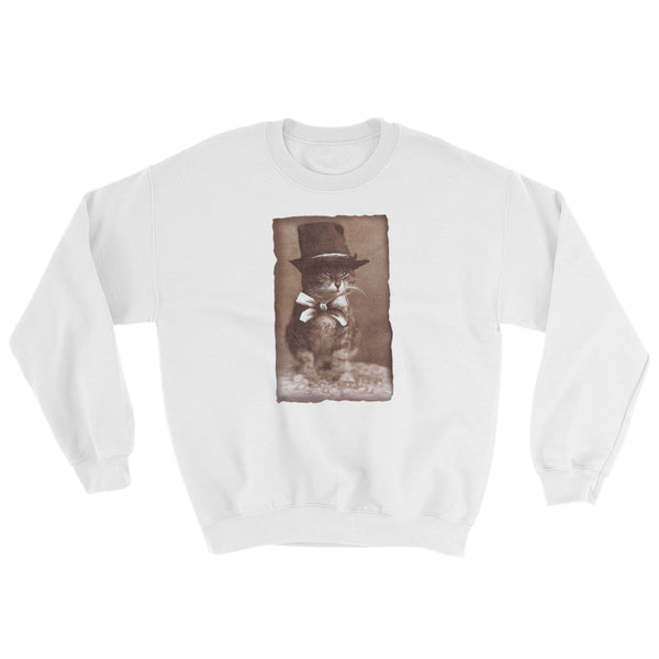 Top Hat Cat -  Sweatshirt  -  Vintage Retro Cats