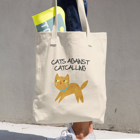 Cats Against Catcalling -  Tote Bag -  Anti Catcalls Cat