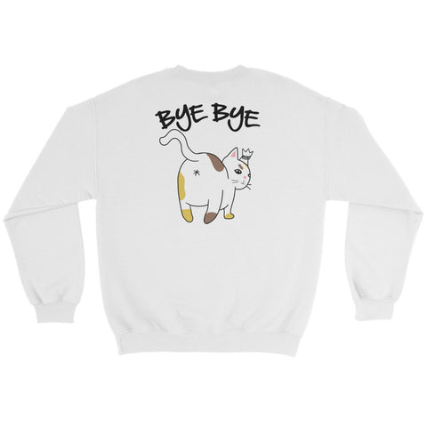 Hello Bye Bye Cat - Front/Back Printed Sweatshirt - Funny Cats