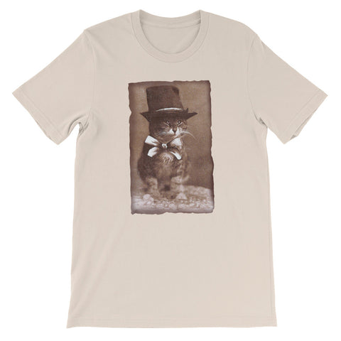 Top Hat Cat -  Men's T-Shirt -  Vintage Retro Cat Tee
