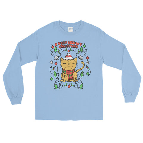 A Very Meowy Christmas - Long Sleeve T-Shirt - Cute Cats Tee