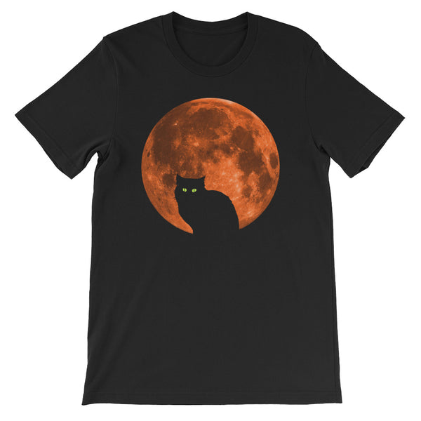 Blood Moon Cat - Halloween Costumes Men's T-Shirt - Funny Scary Cats Tee