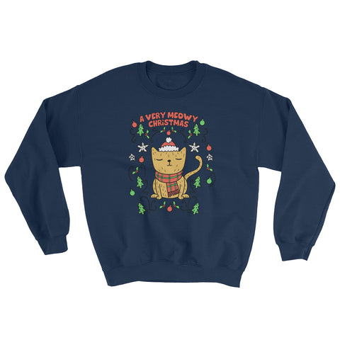 A Very Meowy Christmas Sweatshirt - Cute Cats Tee