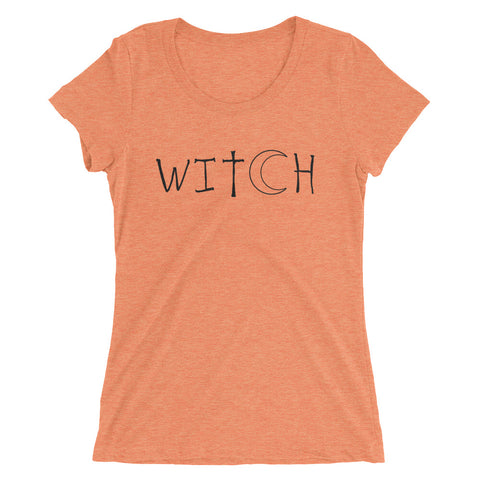 Witch - Halloween Costumes Women's T-Shirt - Scary Funny Tee (light colors)