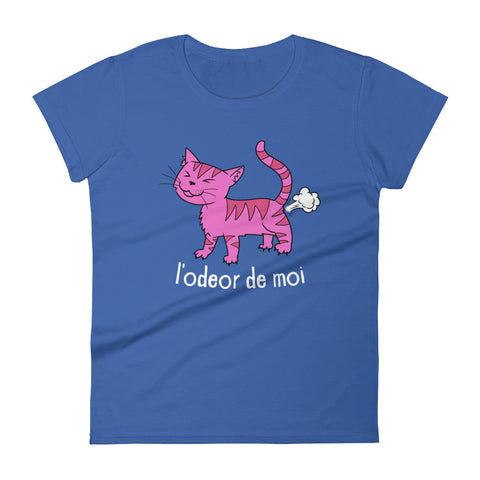 L'odeor de moi -  Funny Cats Women's T-Shirt - Fashion Cat Tee (dark colors)