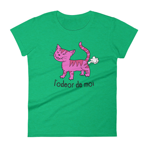 L'odeor de moi -  Funny Cats Women's T-Shirt - Fashion Cat Tee (light colors)