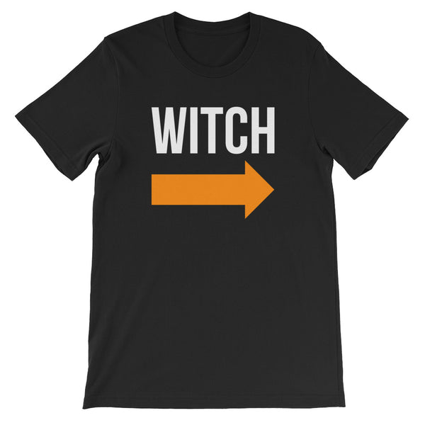 I'm With the Witch - Halloween Costumes Men's T-Shirt - Scary Funny Tee (dark colors)