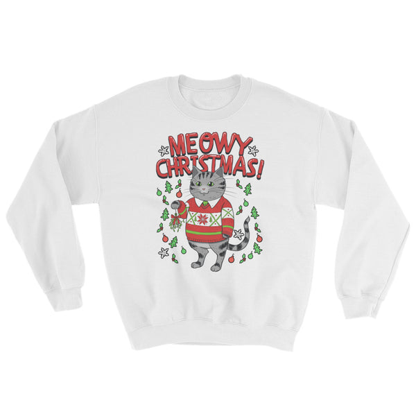 Meowy Christmas Cat Sweatshirt - Cute Cats Tee