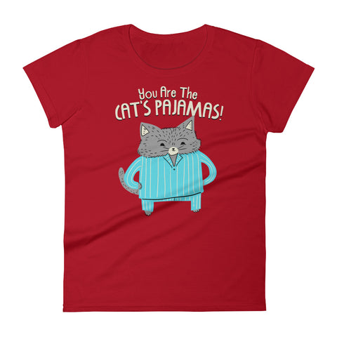 Cat's Pajamas -  Women's T-Shirt -  Cute Cat Tee (dark colors)