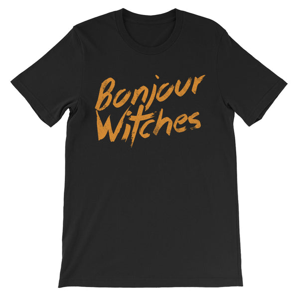 Bonjour Witches - Halloween Costumes Men's T-Shirt - Funny Tee (dark colors)