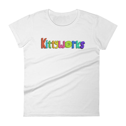 Kittyworks Logo - Women's Cat T-Shirt - Casual Cats Tee