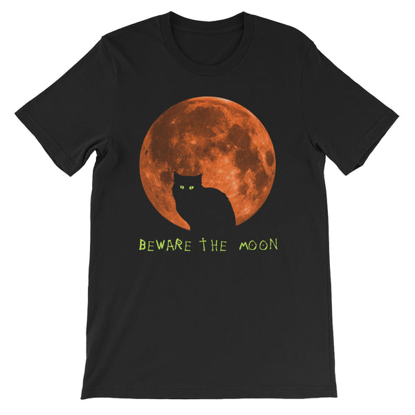 Beware the Moon - Halloween Costumes Men's T-Shirt - Funny Scary Cats Tee