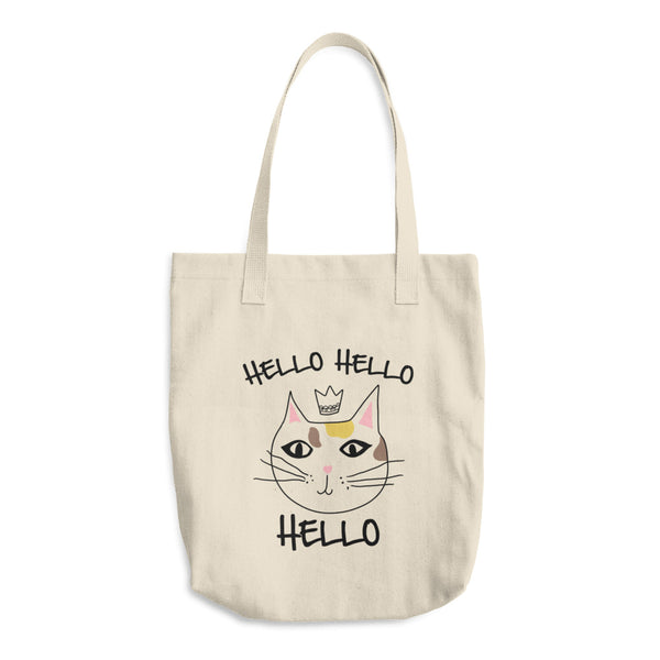 Hello Bye Bye Cat - Front/Back Tote Bag - Funny Cats