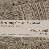 Wang Xiaoni 王小妮 - Something Crosses My  Mind 有什么在我心里一过 / Simplified Chinese and English 简英 / Book