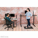 UPLIFT 900 Height Adjustable Standing Desk in Mahogany Laminate - Stand Up Desk Direct  - 2
