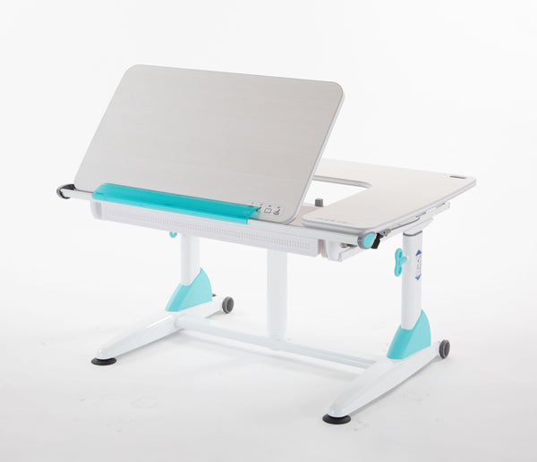 Kid 2 Youth G6-XS Plus Ergonomic Desk with Drawer in Aqua Green