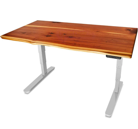 UPLIFT 900 Height Adjustable Standing Desk in Solid Wood - Cedar - Stand Up Desk Direct
