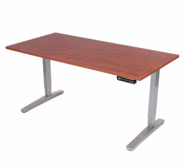 UPLIFT 900 Height Adjustable Standing Desk in Cherry Laminate - Stand Up Desk Direct  - 1
