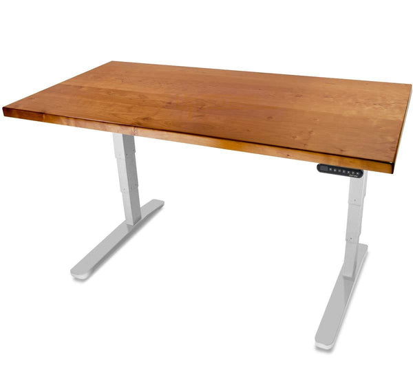 UPLIFT 900 Height Adjustable Standing Desk in Solid Wood - Cherry - Stand Up Desk Direct