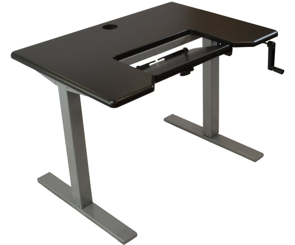 iMovr Omega Denali Height Adjustable Standing Desk With Keyboard Tray - Stand Up Desk Direct  - 1