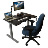 iMovr Omega Denali Height Adjustable Standing Desk With Keyboard Tray - Stand Up Desk Direct  - 4