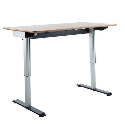 TCT Nanotec Dynamic Work Station Ergonomic E-desk in Oak/Black - Stand Up Desk Direct  - 1