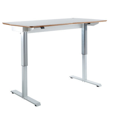 TCT Nanotec Dynamic Work Station Ergonomic E-desk in White - Stand Up Desk Direct  - 1