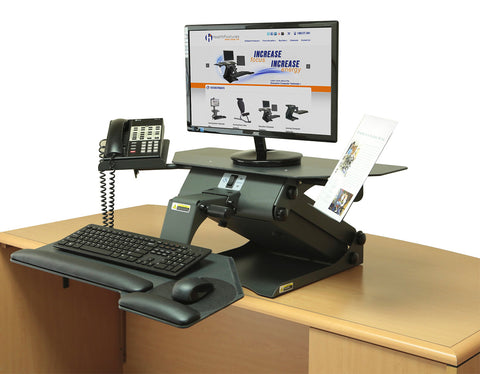 HealthPostures 6100 TaskMate Executive Standing Desk