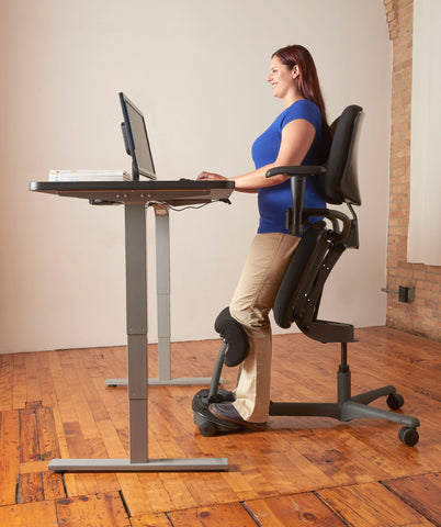 HealthPostures Ergonomic Sit-Stand Chair 5100 Stance Angle