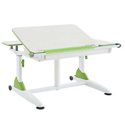 Kid 2 Youth G6-XS Plus Ergonomic Desk with Drawer in Green - Stand Up Desk Direct