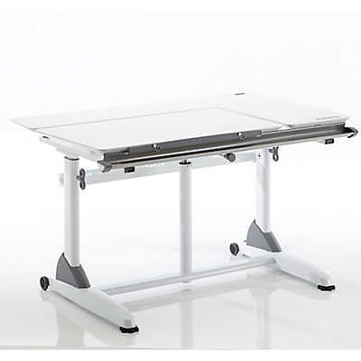 Kid2Youth G-6S Ergonomic Desk in White/White - Stand Up Desk Direct  - 1