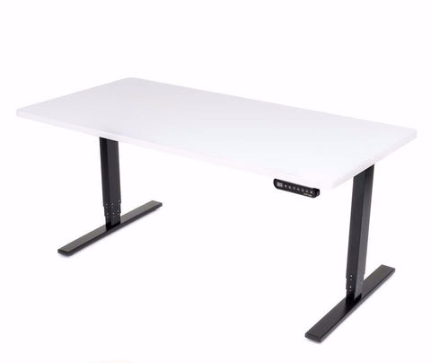 UPLIFT 900 Height Adjustable Standing Desk in White Eco - Stand Up Desk Direct  - 1