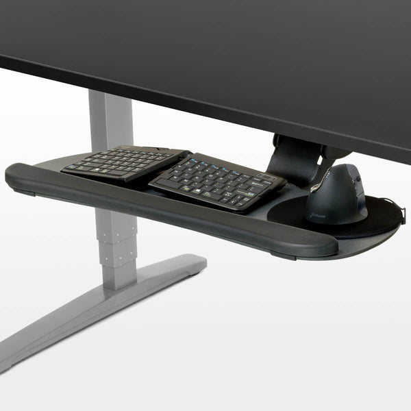 UPLIFT Large Keyboard Tray - Stand Up Desk Direct  - 1