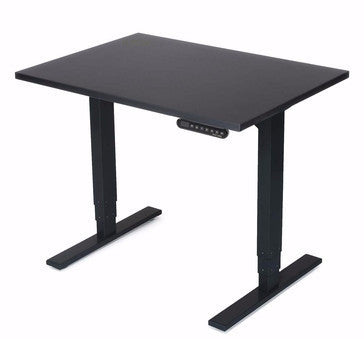 UPLIFT Height Adjustable Space Saver Standing Desk in Black Laminate - Stand Up Desk Direct  - 1