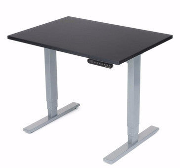 UPLIFT Height Adjustable Space Saver Standing Desk in Black Eco - Stand Up Desk Direct  - 1