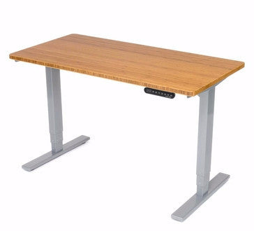 UPLIFT Height Adjustable Space Saver Standing Desk in Bamboo - Stand Up Desk Direct  - 1
