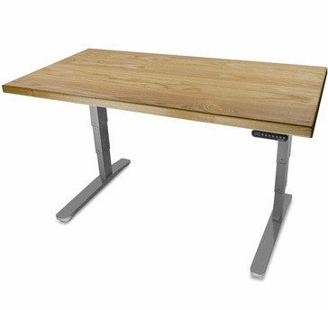 UPLIFT 900 Height Adjustable Standing Desk in Solid Wood - Ash - Stand Up Desk Direct