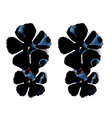Faye Earrings - Black