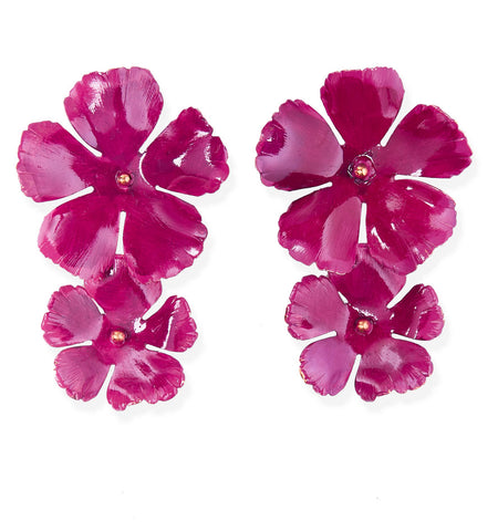 Faye Earrings - Mulberry
