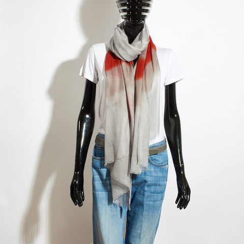 Cashmere Scarf Calci - Grey