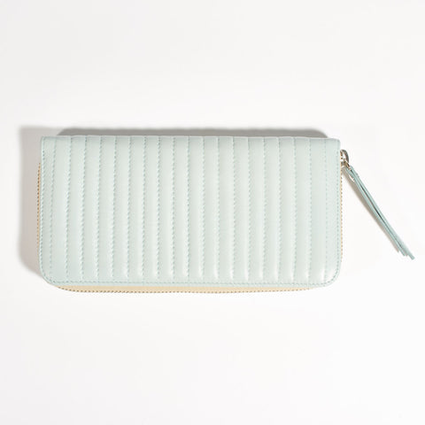 "Leather Wallet ""Antonin"" - Baby Blue"