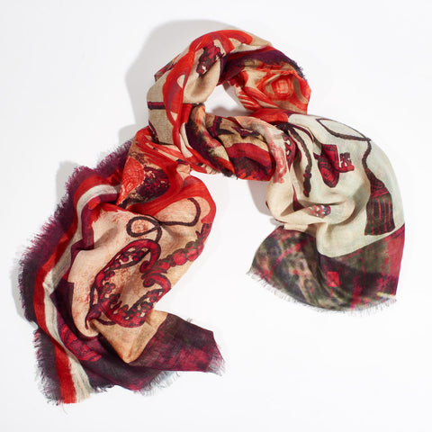 Cashmere Scarf Tropea - Orange