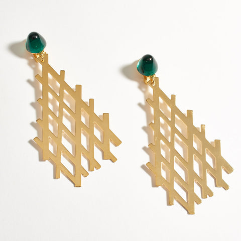 """Fougere"" Earrings - Gold"