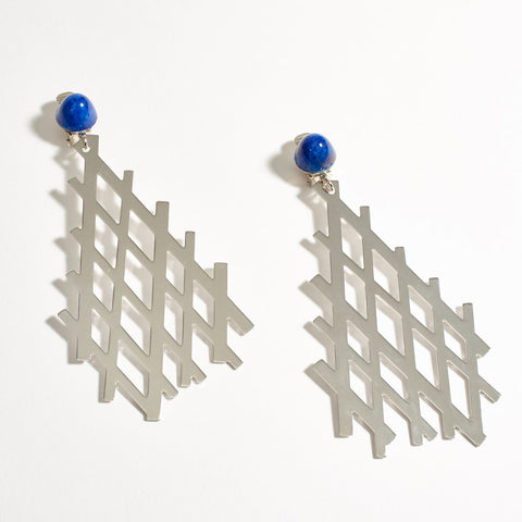 """Fougere"" Earrings - Silver"