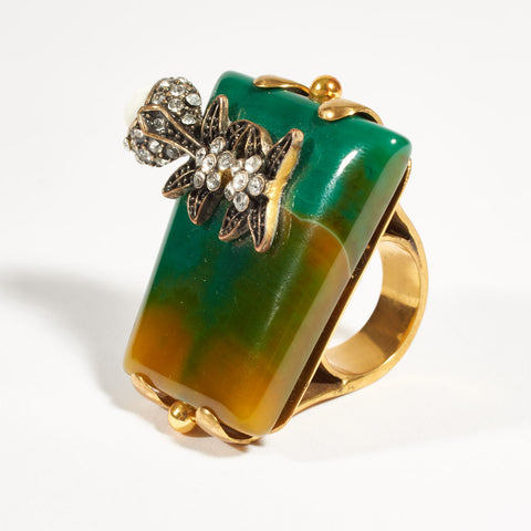 Cocktail Ring - Emerald Green